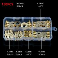 150Pcs Copper Battery Cable Connector Terminal Open Wire Terminals Lugs Kit K6X9