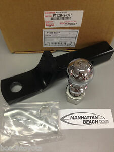 """2007-2020 TUNDRA 08-20 SEQUOIA TOW HITCH BALL MOUNT With 2 5/16"""" BALL OEM TOYOTA"""