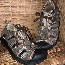Sketcher Shape-Ups Men Size 11 Hiking Sandal Brown Tan Walking Fishing  Shoes