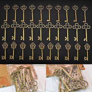 """30pcs 2.5"""" Large Antique Bronze Vintage Old Look Key Decor Kit DIY Model Gift"""