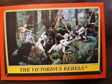 Star Wars 1983 Topps Return of the Jedi Trading Card #114 The Victorious Rebels