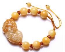 Hand-woven natural yellow jade Pi Yao Bracelet