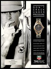 1993 TAG Heuer Watches Vintage PRINT AD Swiss Sports Men's Hand Watch Golf 1990s