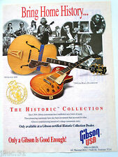 """Affichette GIBSON USA guitare """"The Historic Collection"""""""