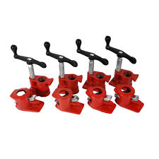 "( 4 PCS ) 3/4"" Wood Gluing Pipe Clamp Set Heavy Duty PRO Woodworking Cast Iron"