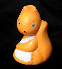 1960s Ussr Russian Soviet Celluloid Toy Squirrel Beanbag Pogremushka
