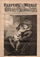 1878 Harpers Weekly December 28 - Christmas Supplement - Many full page prints