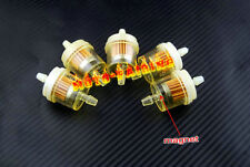 "BMW Motorcycle Clear Inline GAS Carburetor Fuel Filter 6mm 7mm 1/4"" MOTOR 5PCS"