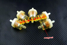 "5pcs HONDA ATV Motorcycle Inline GAS Carburetor Fuel Filter 6mm-7mm 1/4"" ENGINE"