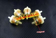 "CAN AM ATV DIRT BIKE  Inline GAS Carburetor Fuel Filter 6mm-7mm 1/4"" MOTOR 5PCS"