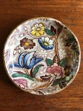 Vintage Collectable Maling Chestnut Chintz Pottery Pin Trinket Dish England
