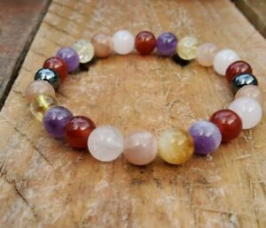 Anxiety Acceptance Awareness Gemstone Bracelet Magnetic Band Mental Health