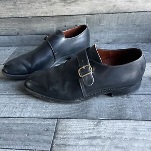 Luxury Sanders Leather Buckle Leager Shoes - Size 9 UK