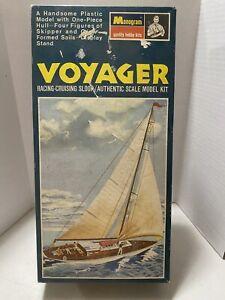 Monogram 1968 Voyager Racing-Cruising Sloop Model Kit PB183 Partially Assembled
