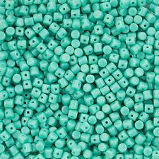 Czech Glass Minos® par Puca® Opaque Green Turquoise Barrel Beads 9g (L102/6)