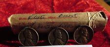 "1957 D  Wheat Lincoln Cent Roll Error coins "" Liberty "" error 50 Circ Cents"