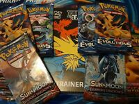 Pokemon 7 or 12 Sealed Boosters Hidden Fates Guaranteed/Full art sets/Evolutions