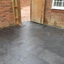 Black Slate Paving✔Patio Slabs Garden✔ 17m2 600x400mm  20mm Thick ✔