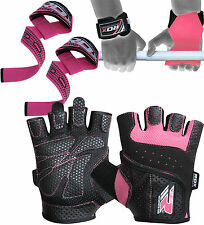 RDX Ladies Weight Lifting Gloves Gym Grips Strap Women Fitness Training Exercise