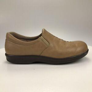 Womens 10 M SAS Viva Tripad Comfort Sand Tan Butter Leather Slip On Gore Loafers