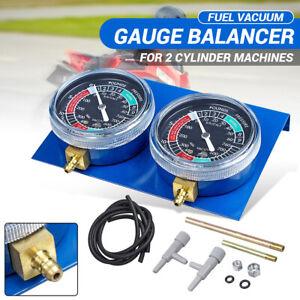 Motorcycle Carburettor Carb Vacuum Synchronizer Balancer 2 Cylinder Gauge Tool