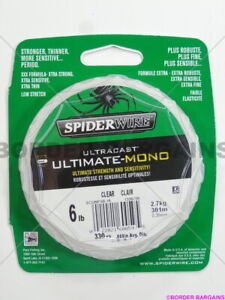 FR FAST SHIP! BRAND NEW! Spiderwire ULTIMATE-MONO Fishing Line 6lb 330yd STRONG!