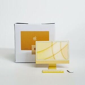 """NEW! Apple iMac 24"""" (Yellow) TOY miniature scale 1:12 for dollhouse or Similar"""