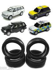 Nuevo paquete de 4 Scalextric W9472 Neumáticos para Range Rover Inc policía y deriva todos Modelo