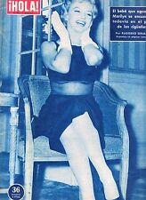 "MARILYN MONROE:VINTAGE SPANISH MAGAZINE UNIQUE COVER-""HOLA"" 1957-NEW BABY???"