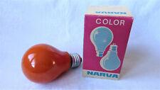 5x Narva Color Glüh Glühbirne Glühlampe 25Watt E27 orange 225V Birnenform EEK E