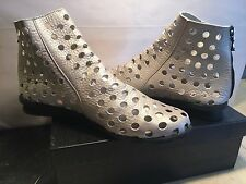 Arche Women's Perforated Leather Nubuck Ankle Boots Grey Size: 41 (US 10)