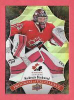 2016-17 Mackenzie Blackwood Upper Deck Team Canada Juniors Program of Excellence