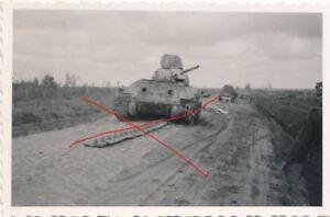 Nr.22999 Foto 2, Weltkrieg Beutepanzer tank  6 x 9 cm