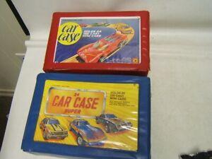 Lot of 2 Vintage Car Cases (holds 24 MB or HW) with 28 Asstd Cars JS