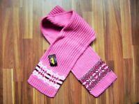 @ MaxiMo @ toller Schal Strick pink Norwegermuster NEU mit Etikett