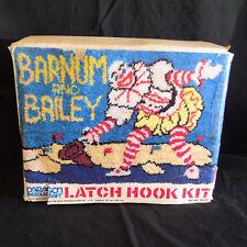 Circus Barnum and Bailey Paragon Latch Hook Kit Clown NOS Needlecraft Vtg