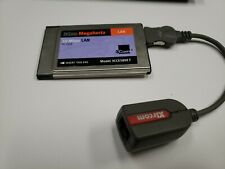 New listing 3Com Pcmcia ethernet card, model 3Cce589Et with Xircom cable/dongle, non-tested