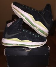 Nike Lebron X 10 EXT Mint Black White Suede QS Brown Green MVP 1 2 3 4 5 6 7 8 9
