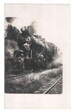2 Engineers on Old Steam Locomotive 101 Railroad Train B&W Postcard