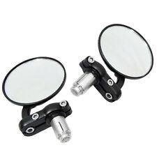 "7/8"" Handlebar Bike Motorcycle ATV Aluminum Rearview Bar End Side Mirror"