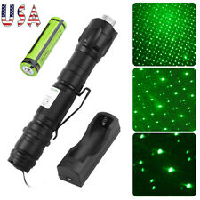 900 Miles Green Laser Pointer Pen Star Beam Rechargeable Lazer&Battery&Cha rger