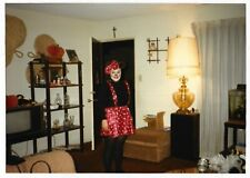 Vintage 80s PHOTO Woman in Minnie Mouse Halloween Costume