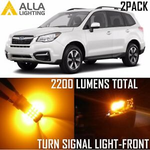 Alla Lighting Front Turn Signal Light T20 Amber LED Bulb Blinker Lamp for Subaru
