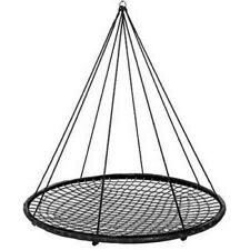 XL 150cm Black Rope Nest Swing + FREE Tree Straps