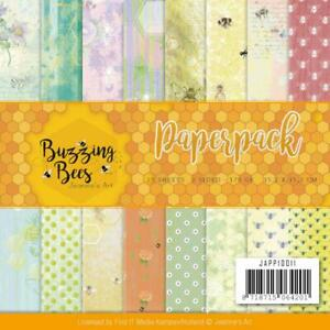 Buzzing BEES 6x6 inch Paper Crafting Paper Pack Find It Trading JAPP10011 NEW