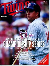 1991 Minnesota Twins vs Toronto Blue Jays ALCS Program Kent Hrbek on Cover