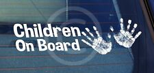 SBD Static Cling Window Car Sign/Decal Children On Board 2 Hands 100mm x 250mm