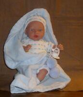 ausdrucksstarke Babypuppe,  von Arias, 26cm, Stoffkörper, neu