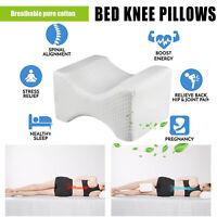 Contour Memory Foam Knee Leg Pillow Cushion Hips Knee Support Orthopaedic Back