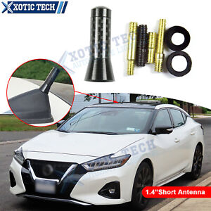 Carbon Fiber Stubby AM/FM Radio Antenna With Screws For Nissan Altima Frontier